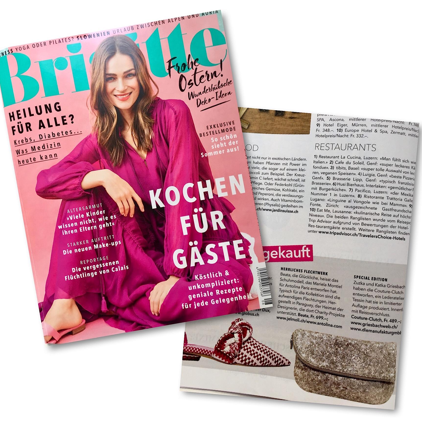 Die Couture Clutch In Der Aktuellen Brigitte News Griesbachweb