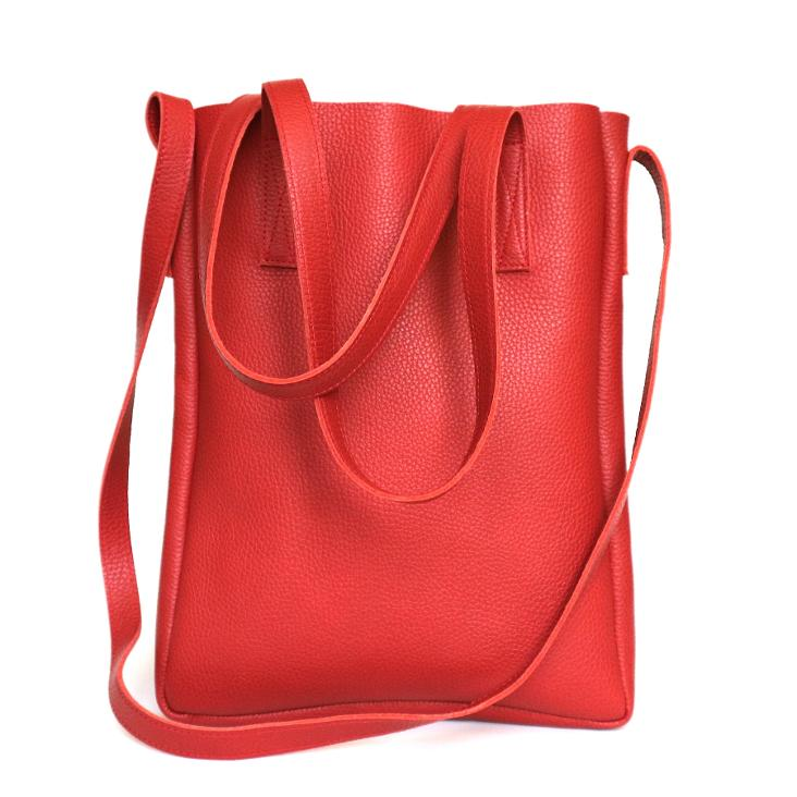 Griesbach – City Tote Bag aus genarbtem Glattleder Farbe Rot