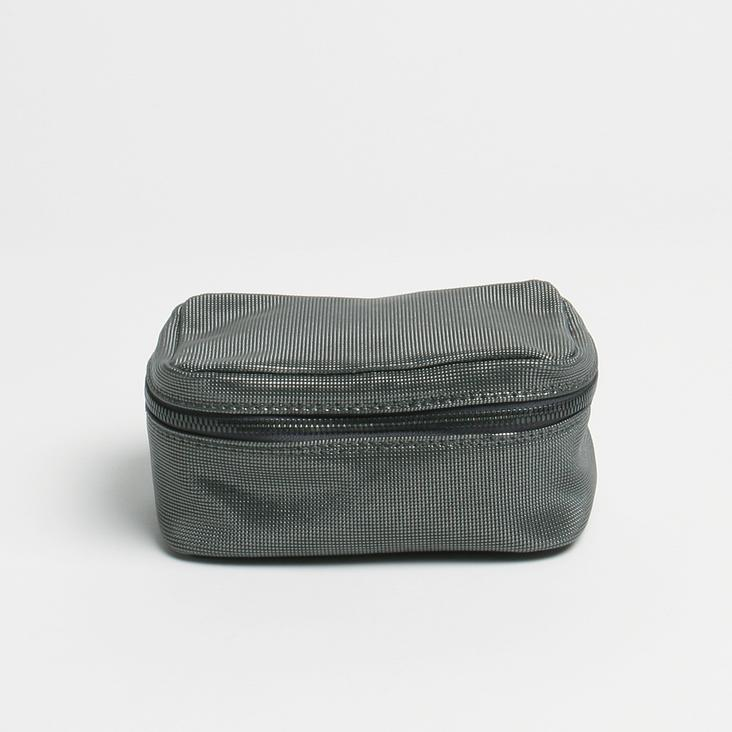 Griesbach – Vanity Case aus geprägtem Leder in Metallic-Optik